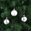 112 részes karácsonyfadísz, ezüst