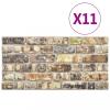 11 db EPS 3D fali panel többszínű tégla dizájnnal