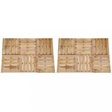 12 db barna fa padlólap 50 x 50 cm építőanyag