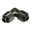 13 / 10mm (10x1,5mm) L tömlő csatlakozó - kompakt - fekete nikkel
