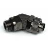 13 / 10mm (10x1,5mm) szorítógyűrűs csatlakozó elforgatható 45 ° G1 / 4 - fekete nikkel