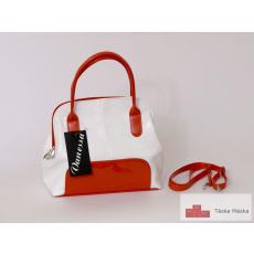 142 Vanessa fehér narancssárga női kézi táska
