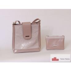 143 Corrado Martino pink átvetős táska neszesszerrel