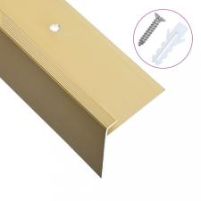 15 db aranyszínű F-alakú alumínium lépcső élvédő 134 cm építőanyag
