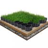 16 db fekete műanyag gyeprács 60 x 40 x 3 cm