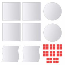 16 db többféle formájú üveg tükörcsempe kerti bútor