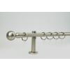 16 mm Ø New Orleans karnis szett, 1 soros, nikkel-matt, block tartóval (160 cm)