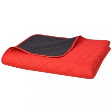170x210 cm kétoldalas steppelt ágytakaró vörös és fekete babaágynemű, babapléd