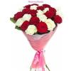 20 szál vörös-fehér rózsa