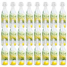 24 db csatos üvegpalack 1 l edény