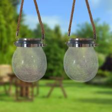 2 db napelemes, kristály lámpa dekoráció kültéri világítás