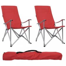 2 db piros összecsukható kempingszék kemping felszerelés