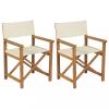 2 db tömör tíkfa összecsukható rendezői szék
