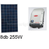 2 kWp rendszer Sharp napelem+ Fronius inverter