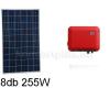 2 kWp rendszer Sharp napelem + SMA inverter