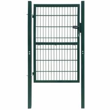 2D kerítés kapu 106 x 190 cm zöld kerti dekoráció