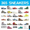 365 Sneakers 2019 Square Wall Calendar