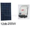 3,1 kWp rendszer Sharp napelem + Fronius inverter