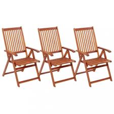 3 db összecsukható tömör akácfa kerti szék kerti bútor