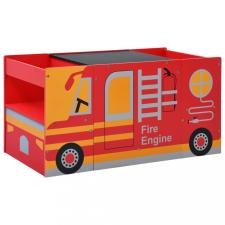 3-részes tűzoltóautó formájú gyerekasztal- és székkészlet gyermekbútor