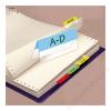 3L Jelölő ikercímke, műanyag, kétoldalas, 4x6 lap, 12x40 mm, 3L vegyes (3L10532)