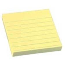 3M/POSTIT 76x76 öntap.jegyzettömb vonalazott sárga jegyzettömb