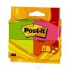3M POSTIT Öntapadó jegyzettömb, 38x51 mm, 100 lap, 3M POSTIT, Neon (LP6812P)