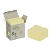 3M POSTIT Öntapadó jegyzettömb, 76x76 mm, 100 lap, környezetbarát, , sárga