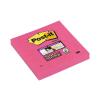 """3M POSTIT Öntapadó jegyzettömb, 76x76 mm, 90 lap,  """"Super Sticky"""", pink"""