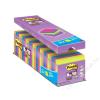 3M POSTIT Öntapadó jegyzettömb csomag, 76x76 mm, 24x90 lap, 3M POSTIT Super Sticky, vegyes (LP654P24CS)
