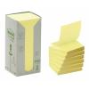 """3M POSTIT Öntapadó jegyzettömb, """"Z"""", 76x76 mm, 100 lap, környezetbarát, , sárga"""