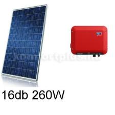 4,1 kWp rendszer Canadian napelem + SMA inverter napelem