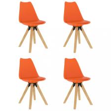4 db narancssárga étkezőszék bútor