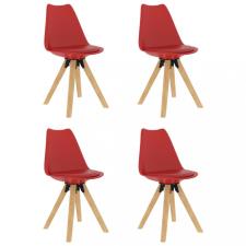 4 db piros étkezőszék bútor