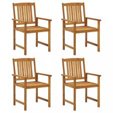 4 db tömör akácfa rendezői szék kerti bútor
