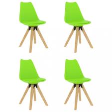 4 db zöld étkezőszék bútor