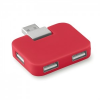 4 portos USB hub, piros