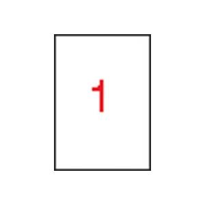 APLI 1 pályás, áttetsző etikett, 210x297 mm, matt, lézernyomtatóhoz 100 etikett/csomag