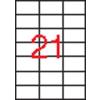 APLI 3 pályás etikett, 70 x 42,4 mm, 2100 etikett/csomag