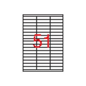 APLI 3 pályás etikett, 70 x 16,9 mm, 5100 etikett/csomag