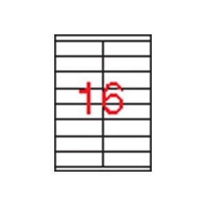 APLI 2 pályás etikett, 105 x 35 mm, 1600 etikett/csomag