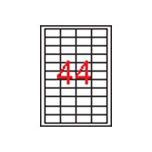 APLI 4 pályás etikett, 48,5 x 25,4 mm, 4400 etikett/csomag