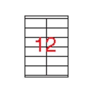 APLI 2 pályás etikett, 105 x 48 mm, 1200 etikett/csomag
