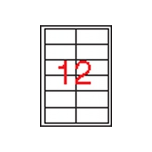 APLI 2 pályás etikett, 97 x 42,4 mm, 6000 etikett/csomag
