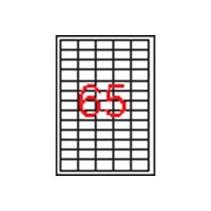 APLI 5 pályás etikett, 38 x 21,2 mm, 32.500 etikett/csomag