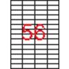 APLI 4 pályás etikett, 52,5 x 21,2 mm, 5600 etikett/csomag