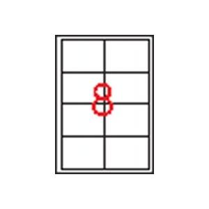 APLI 2 pályás etikett, 97 x 67,7 mm, 800 etikett/csomag