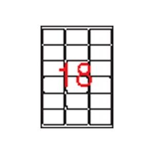 APLI 3 pályás etikett, 63,5 x 46,6 mm, kerekített sarkú, 1800 etikett/csomag