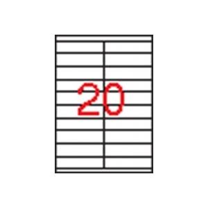 APLI 2 pályás etikett, 105 x 29 mm, 2000 etikett/csomag