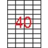 APLI 4 pályás etikett, 52,5 x 29,7 mm, 10000 etikett/csomag